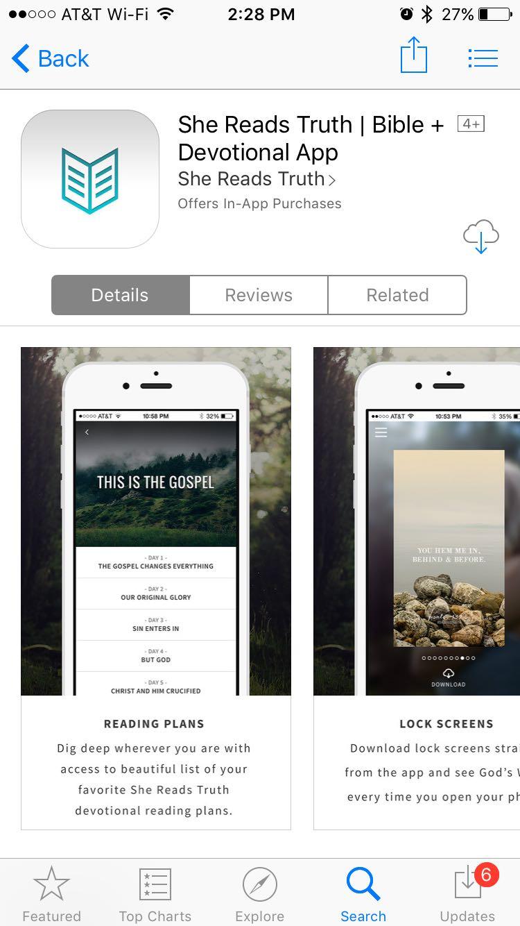 She Reads Truth app screenshot - God's Word