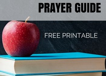 Back to School Prayer Guides