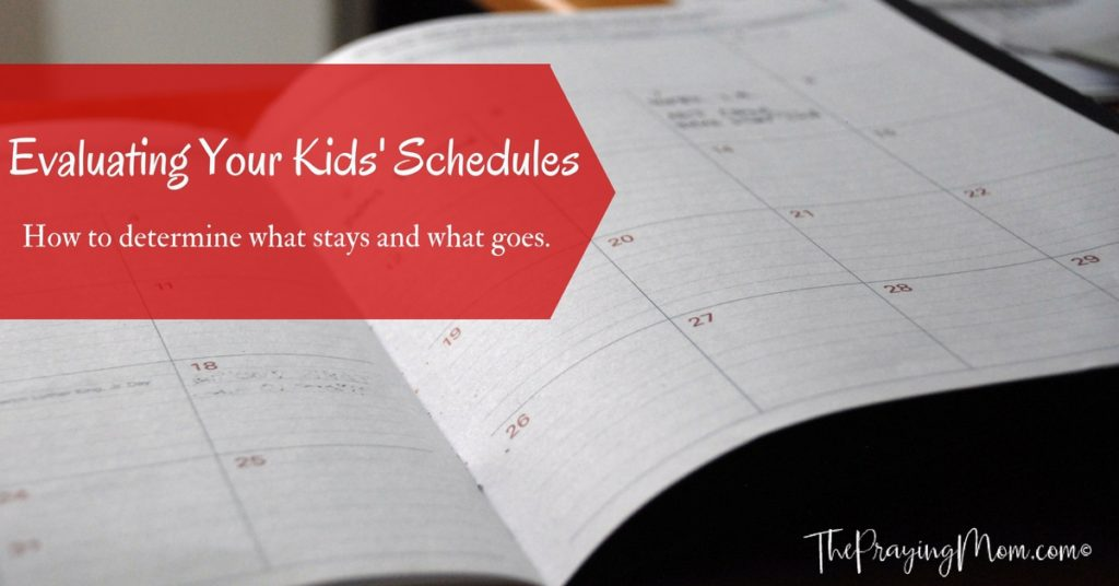 Evaluate Kids Schedules FB