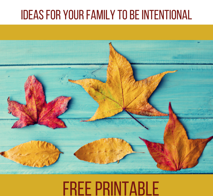 Family Thanksgiving Ideas with Free Printable